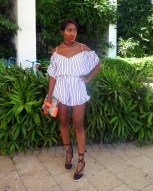 Choker/Romper: Necessary Clothing | Clutch: Milly | Shoes: DeJaneiro Stores