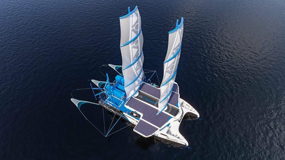 Kuriozitet : Si U Ideua Manta? Varka Me Vela Që Furnizohet Me Energji Të Ripërtëritshme E Cila Po Pastron Oqeanet