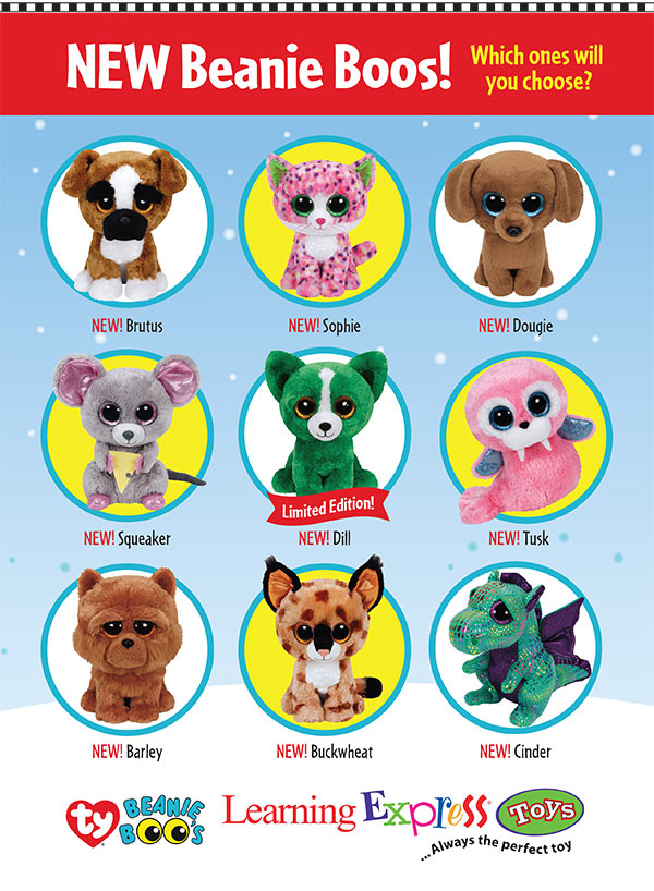The NEWEST release of Beanie Boos are here at Learning Express! This is  probably one of the best releases we ve ever seen. Check out the list… 2bb7012a9fb