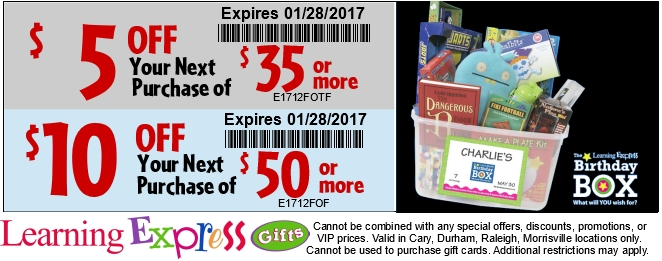 Blog Email Coupon - Learning Express Gifts- Brands included