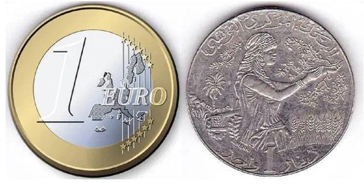 سعر صرف الدينار: ارتفاع طفيف مقابل الأورو في فيفري 2021