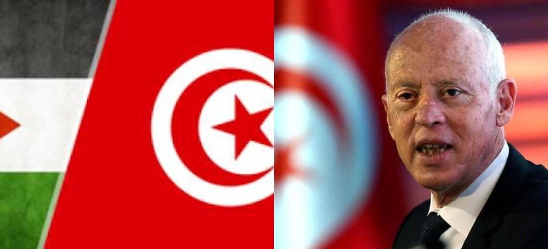 قيس سعيد: الفلسطينيين يريدون التبرع لتونس