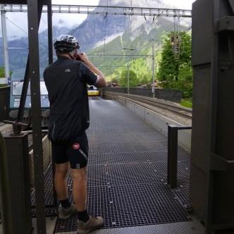 Kiekje vanuit de fietswagon
