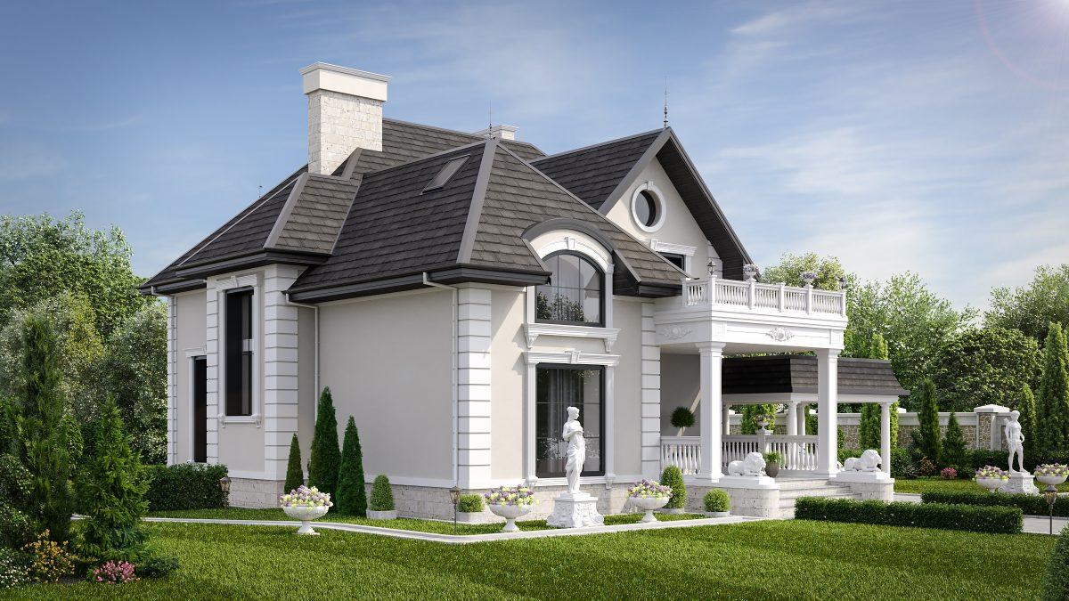 Дом в классическом стиле - день-Р3
