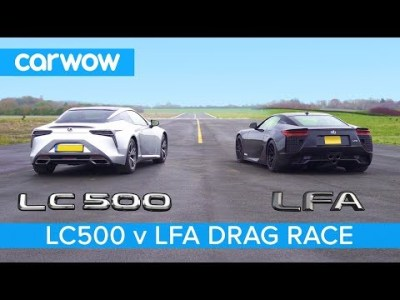 Lexus LFA vs Lexus LC500 – DRAG RACE, ROLLING RACE & BRAKE TEST