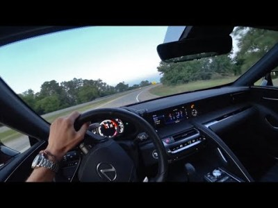 Driving the 2018 Lexus LC 500 at Sunset (Binaural Audio)