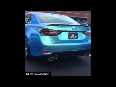 Lexus GS-F звук выхлопа sound