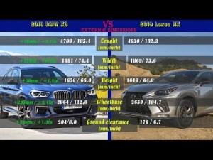 2018 BMW X3 vs 2019 Lexus NX (technical comparison)