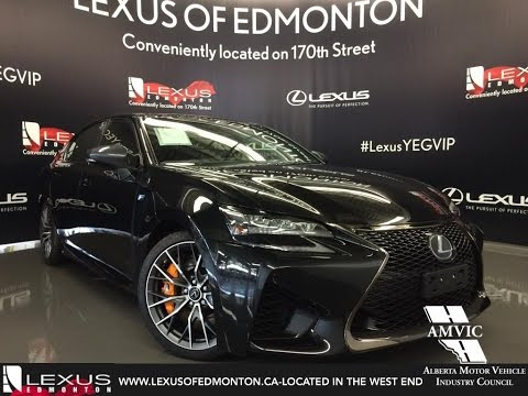 2016 Black Lexus GS F Walkaround Review | Downtown Edmonton Alberta