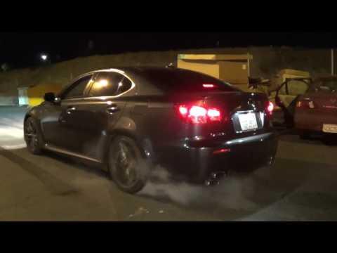 Lexus IS-F Burnout