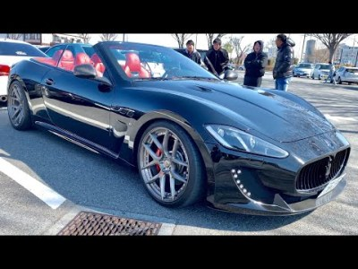 【V8のマセラティのオープンカーが来た‼️💦マセラティ グランカブリオ】フルカスタム‼️4.7 V8‼️道の駅 花園プチMT 2019.02.17