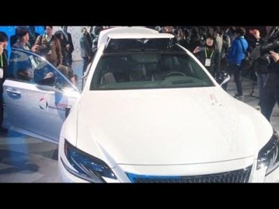 トヨタが新自動運転実験車 レクサスLSがベース