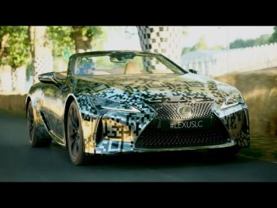 Lexus LC Convertible Prototype Revealed at Goodwood