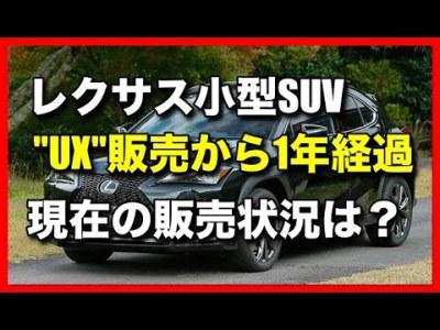 レクサス小型SUV「UX」販売から一年経過!現在の販売状況は?