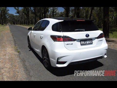 Lexus CT 200h F Sport 0-100km/h & engine sound