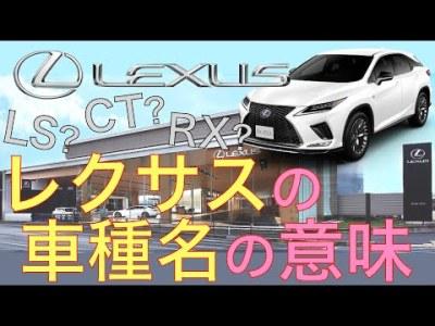 【レクサスの車種名の意味、ご存知ですか?】4分で解説!車名のアルファベットの意味は?