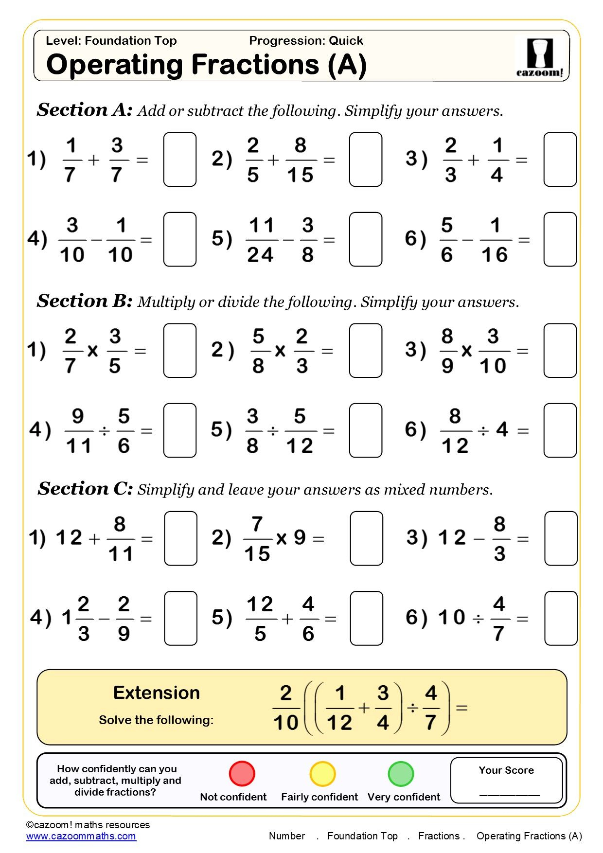 Simplify Proper Fractions To Lowest Terms Easier Version