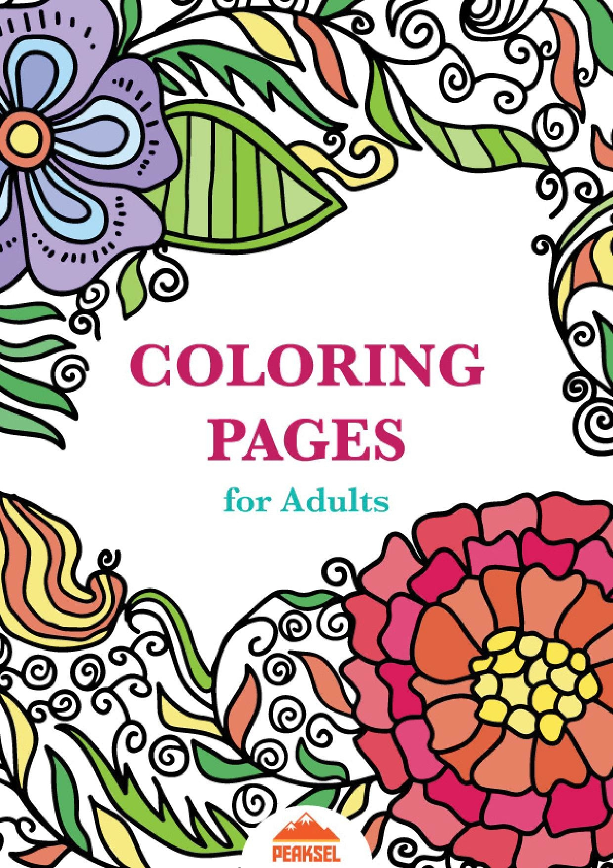 Printable Relax Coloring Page For Adults