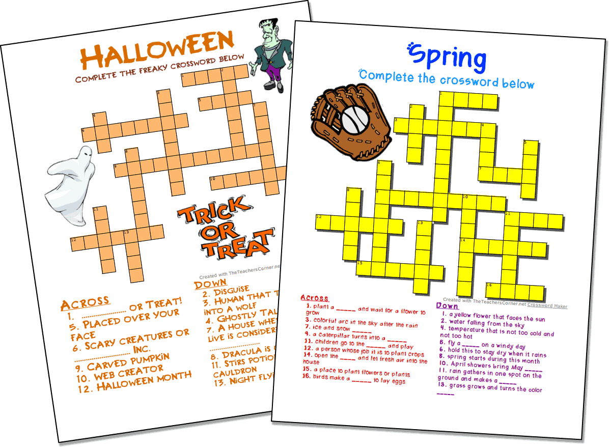 Word Search Puzzle Worksheets Crosswords Maker