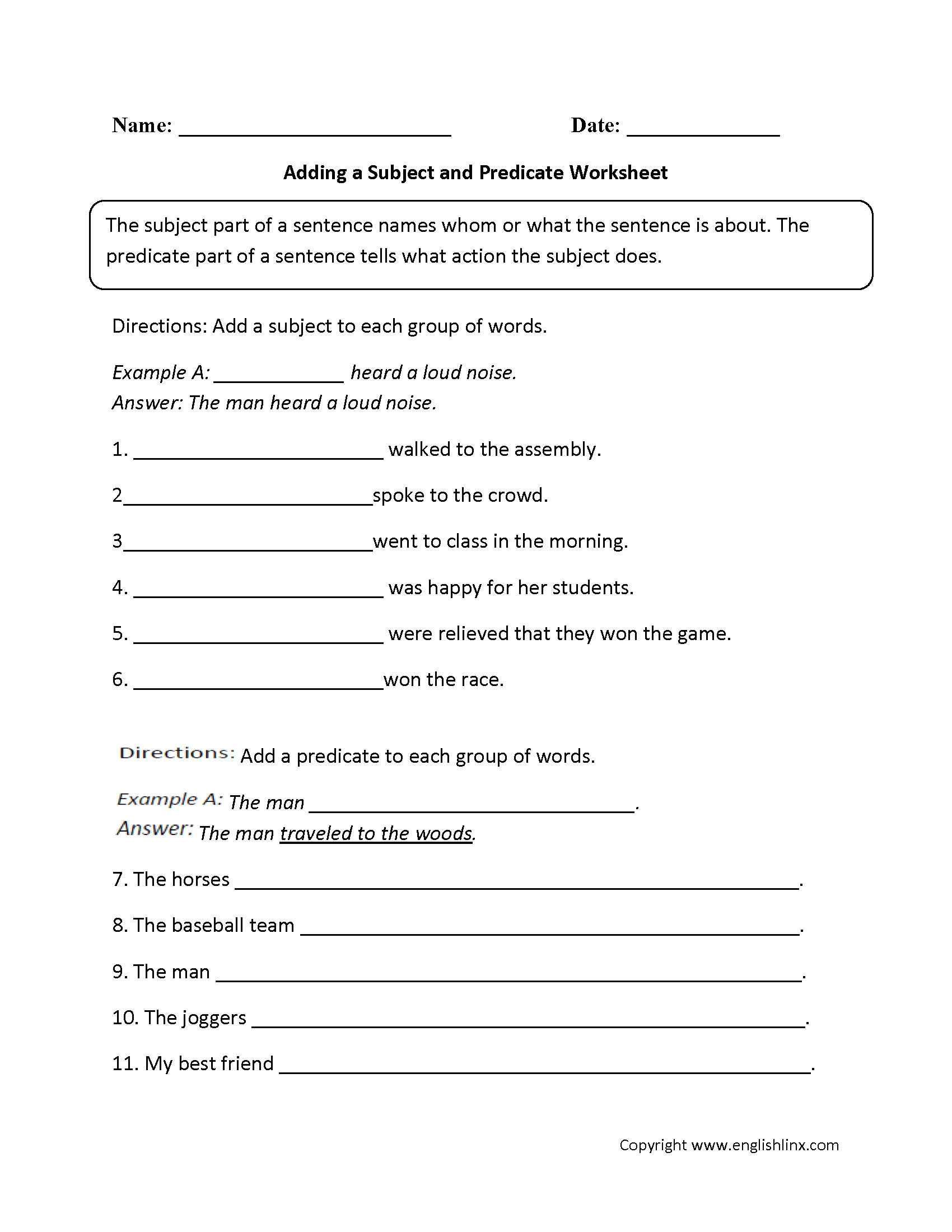 Free Printable 9th Grade Grammar Worksheets
