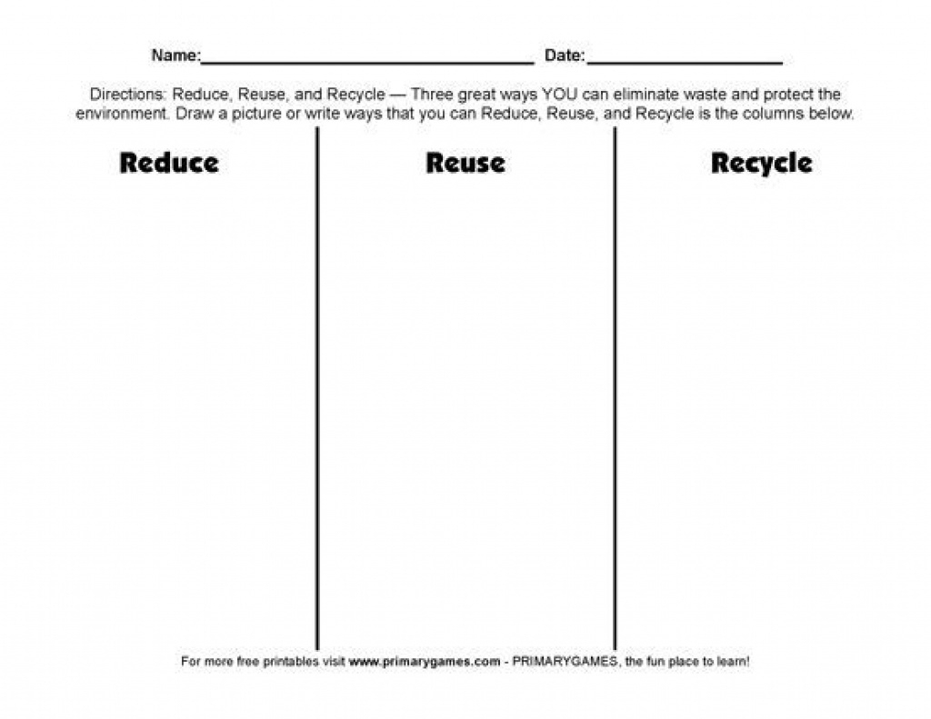 Recycle Worksheets Printable