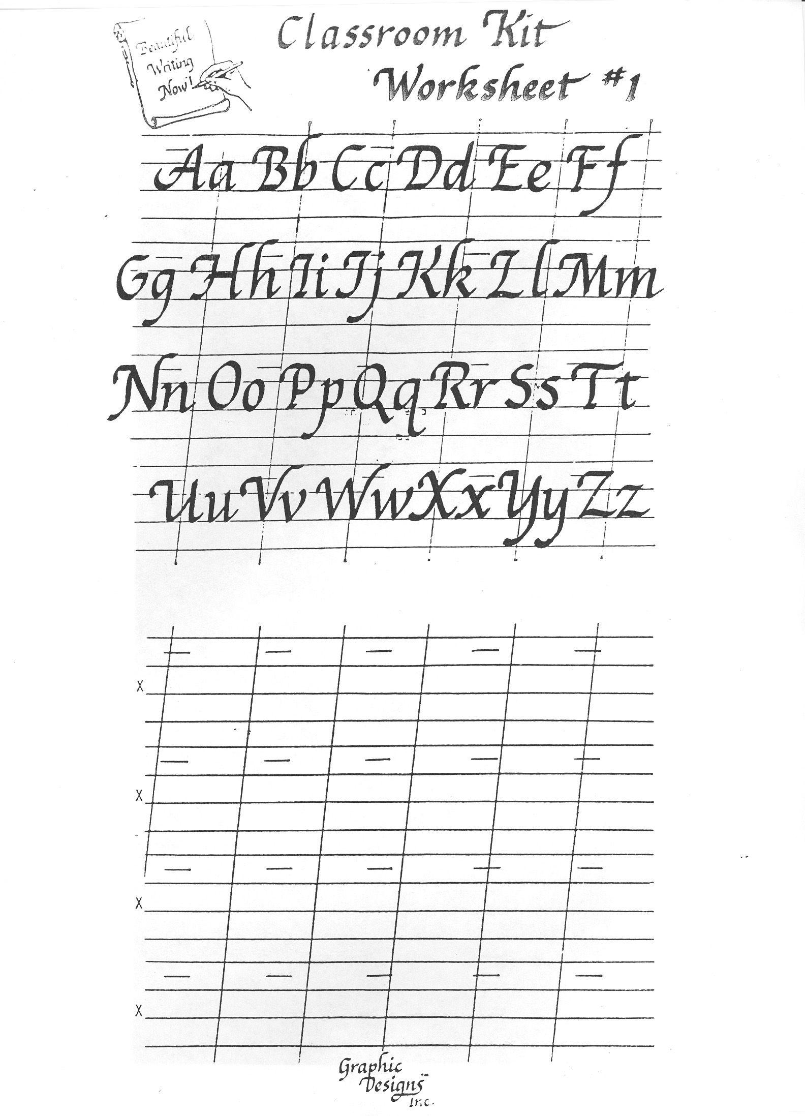 Printable Calligraphy Practice Worksheets