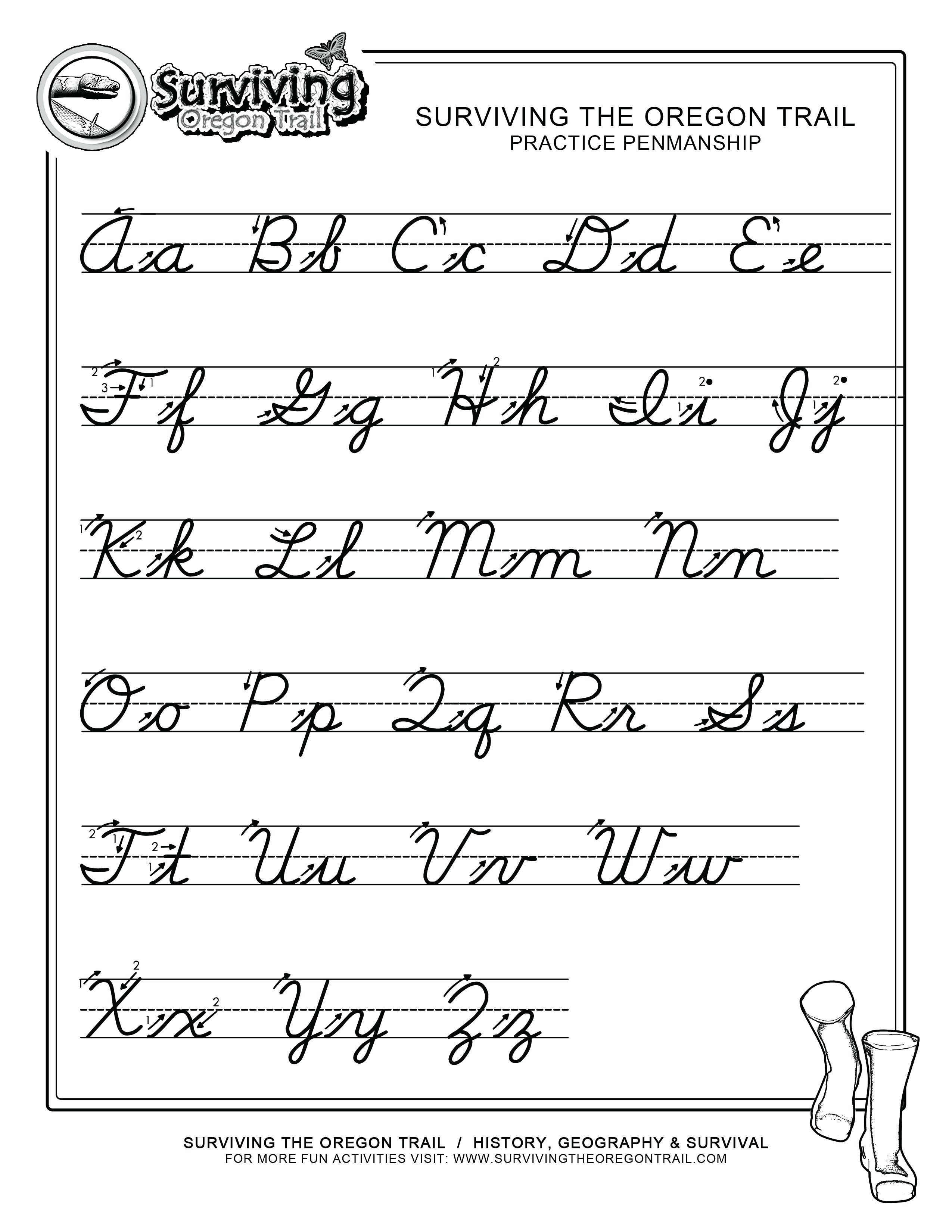 Cursive Writing Practice Printables