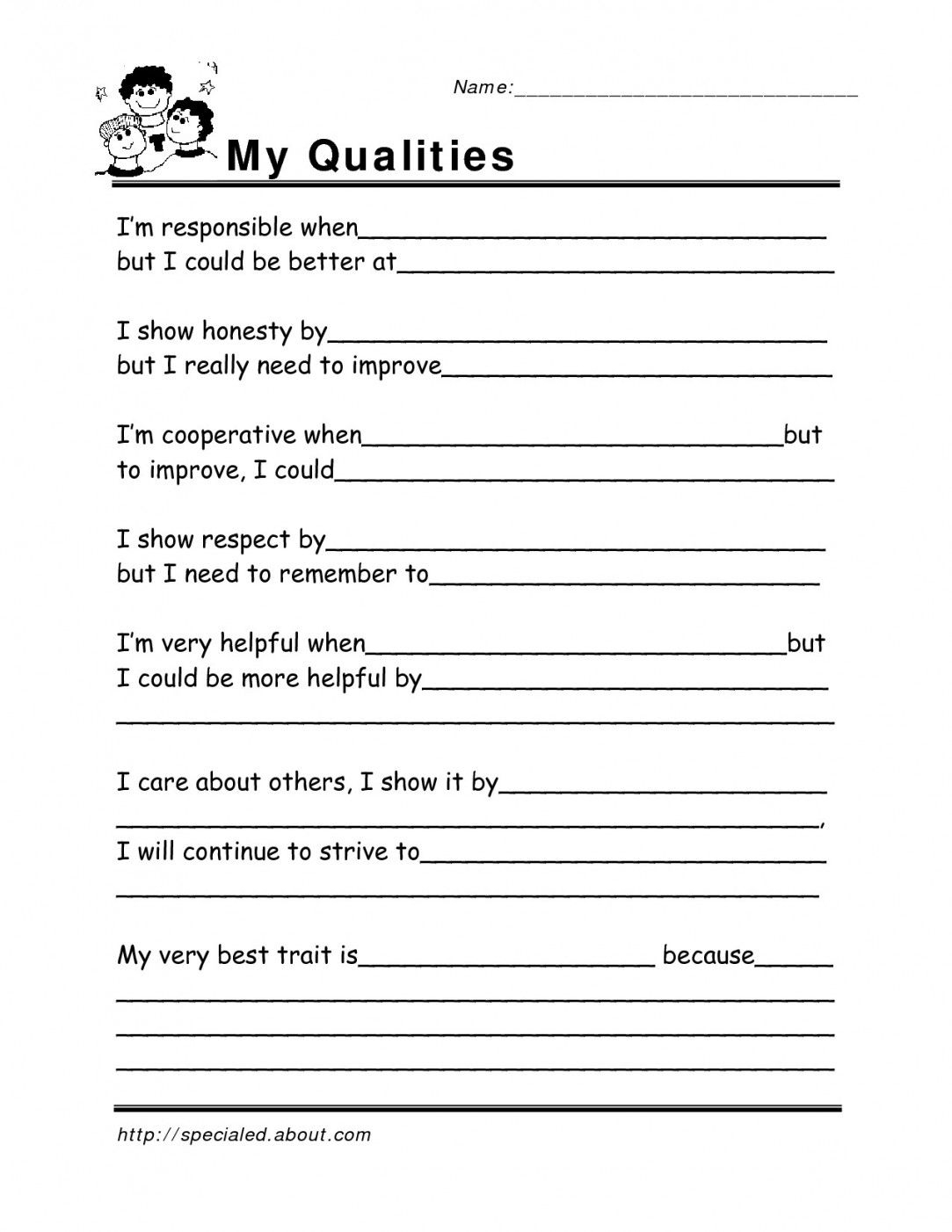 Adults Daily Routine Worksheet
