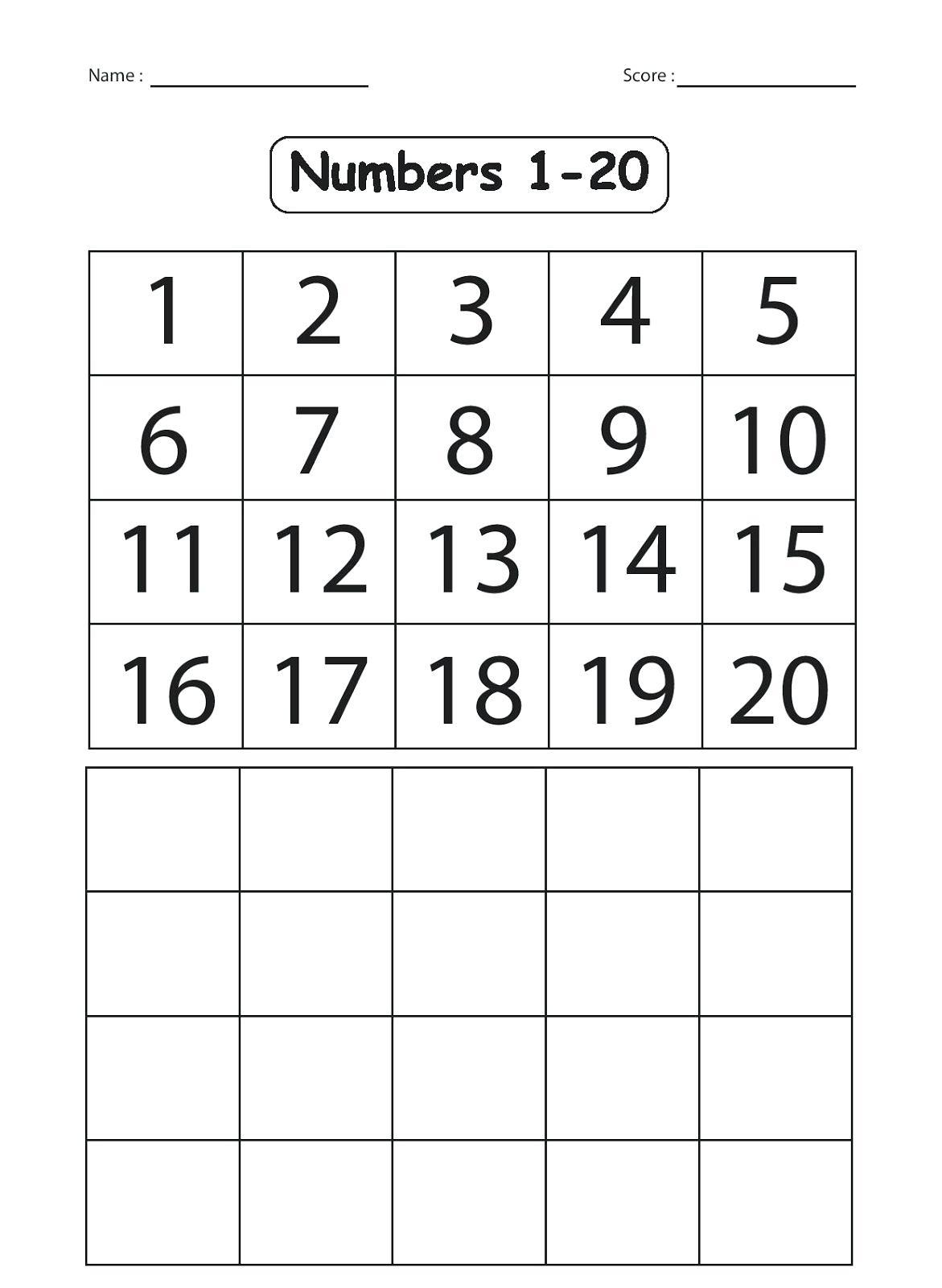 Ice Cream Missing Numbers 1 20 Worksheet For Kindergarten