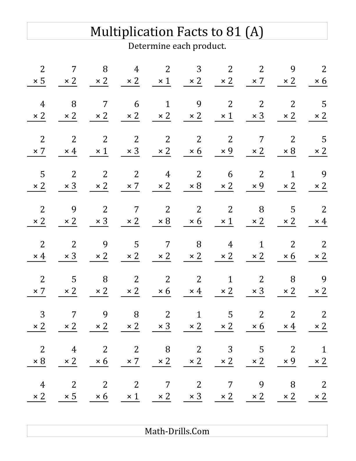 Math Worksheet Minute Math Drills Colornumber 5th Grade