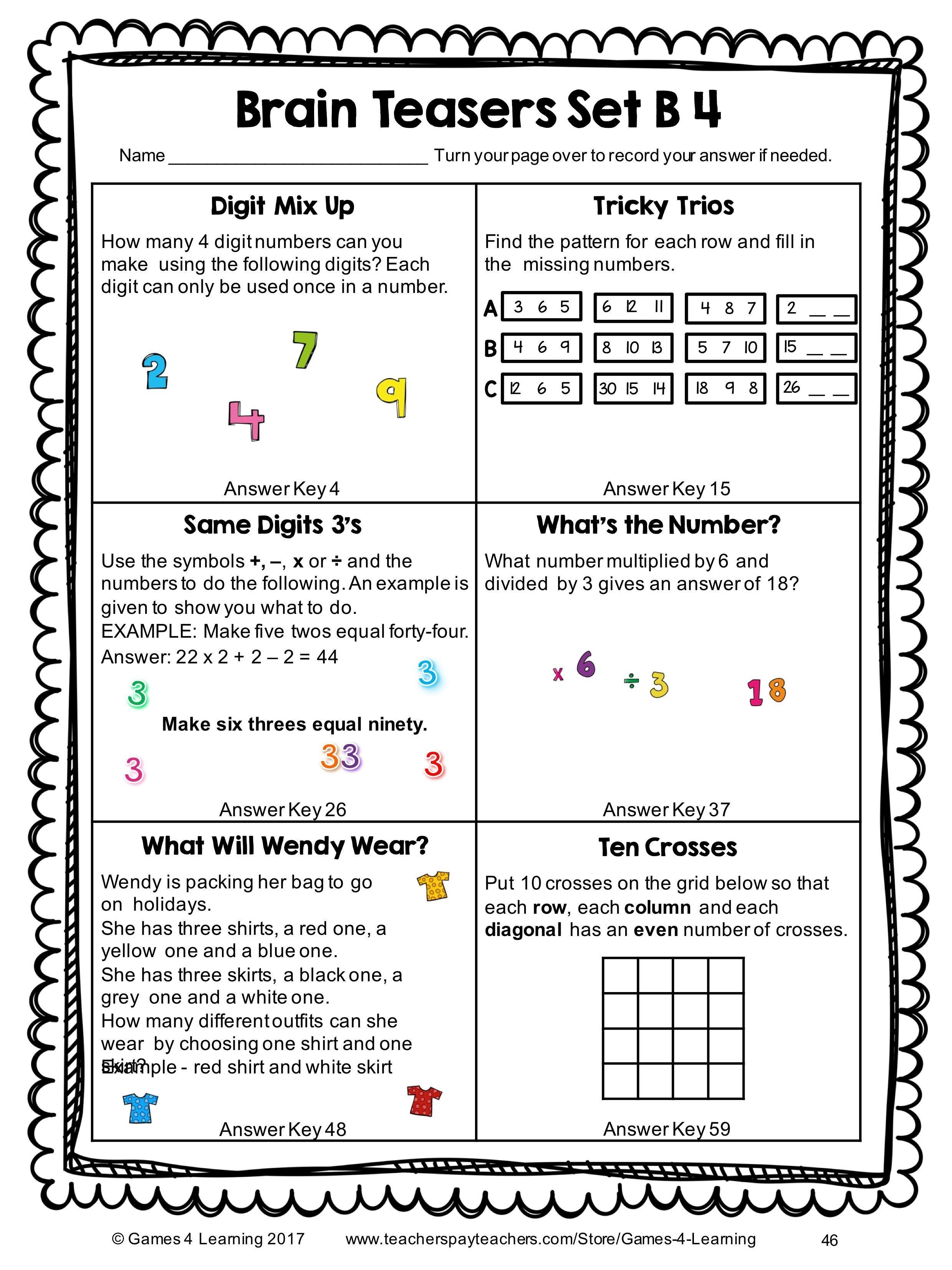 20 Math Puzzles To Engage Your Students