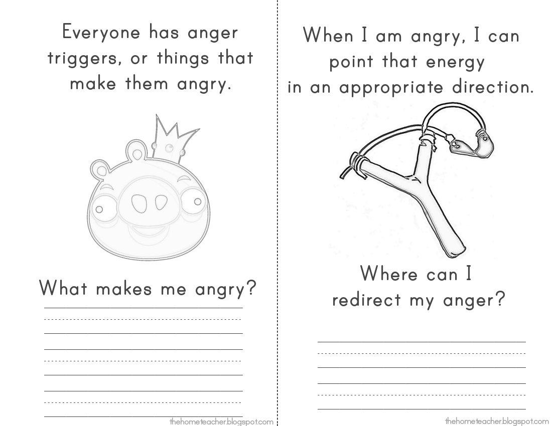 Anger Management Printable Worksheets