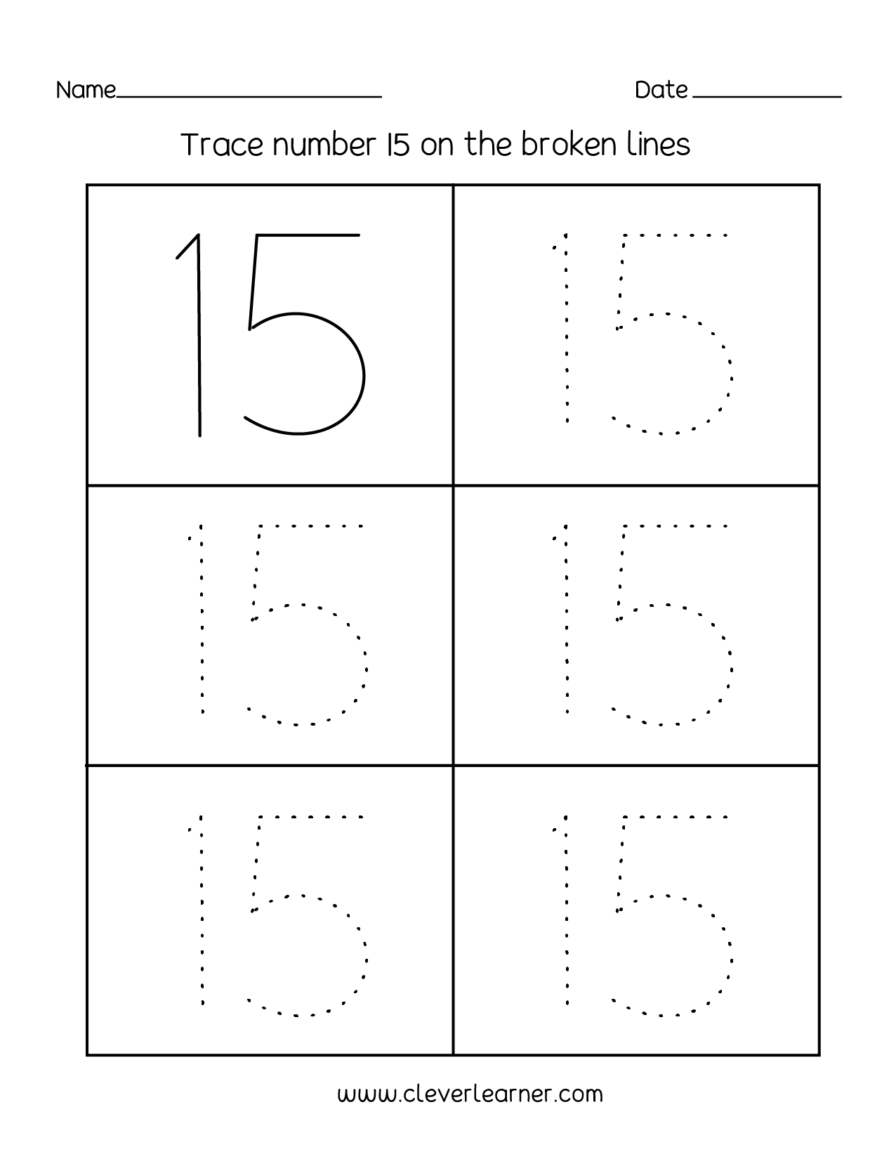 Trace Numbers 1 20