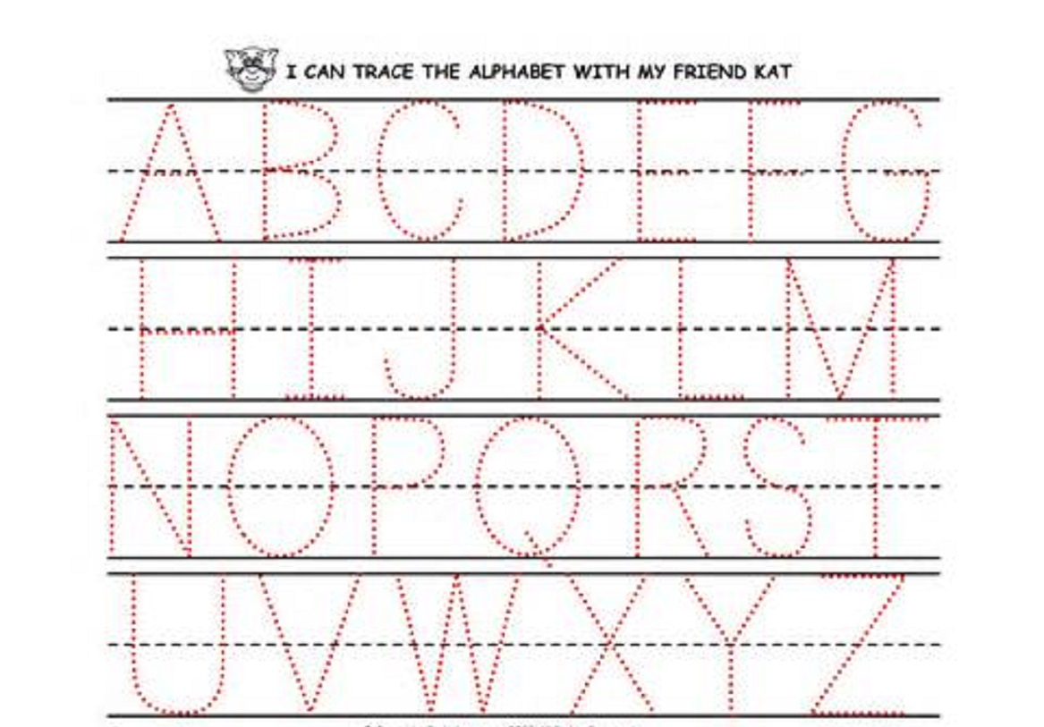 Preschool Printing Worksheets With Alphabet Also