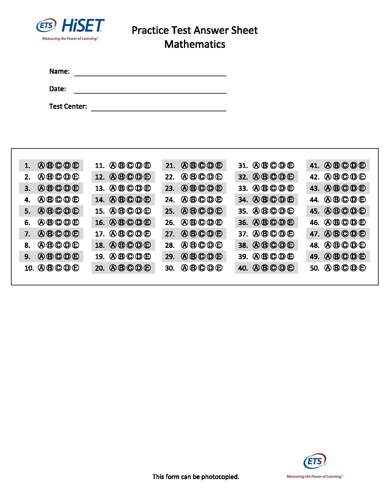 Printable Ged Practice Worksheets