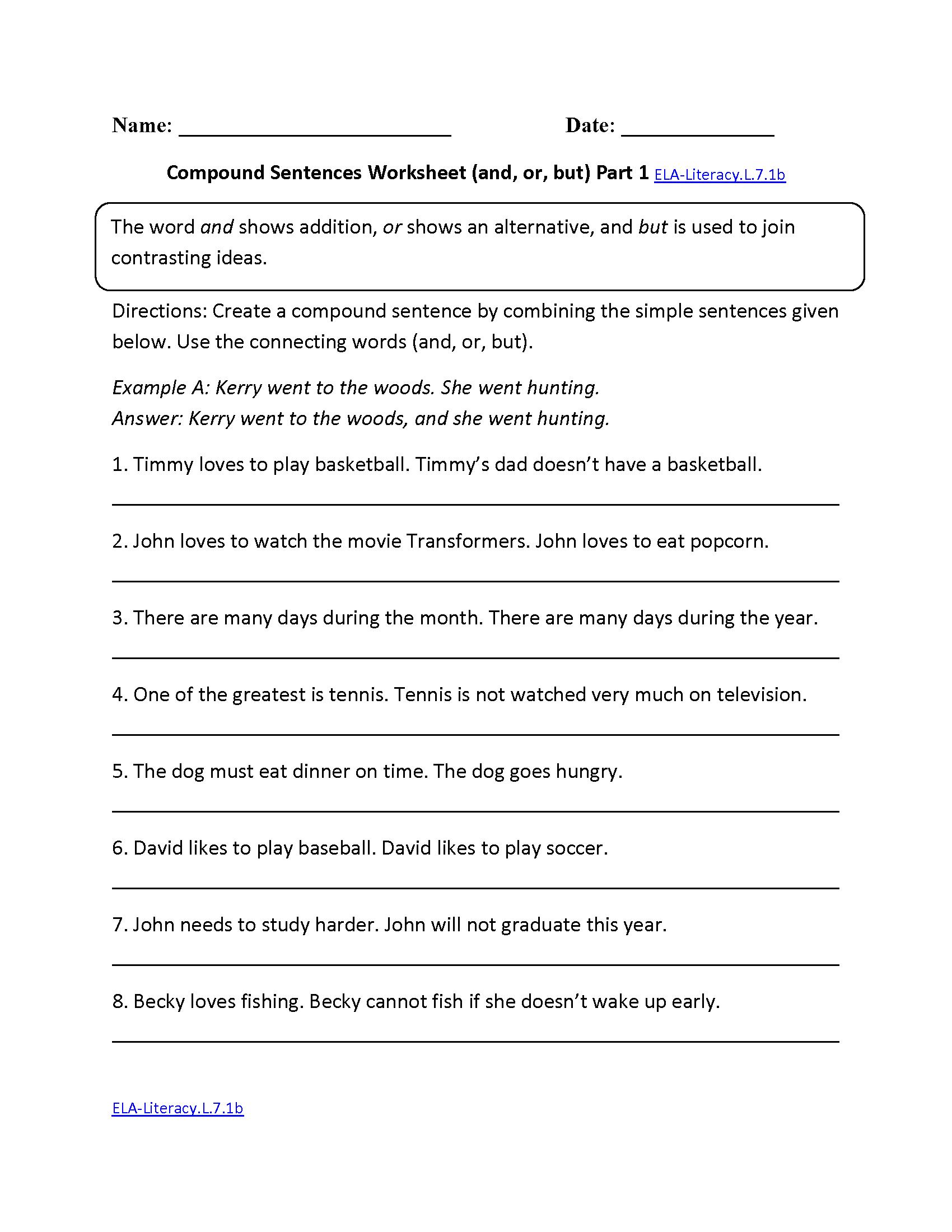 Free Printable 7th Grade Vocabulary Worksheets