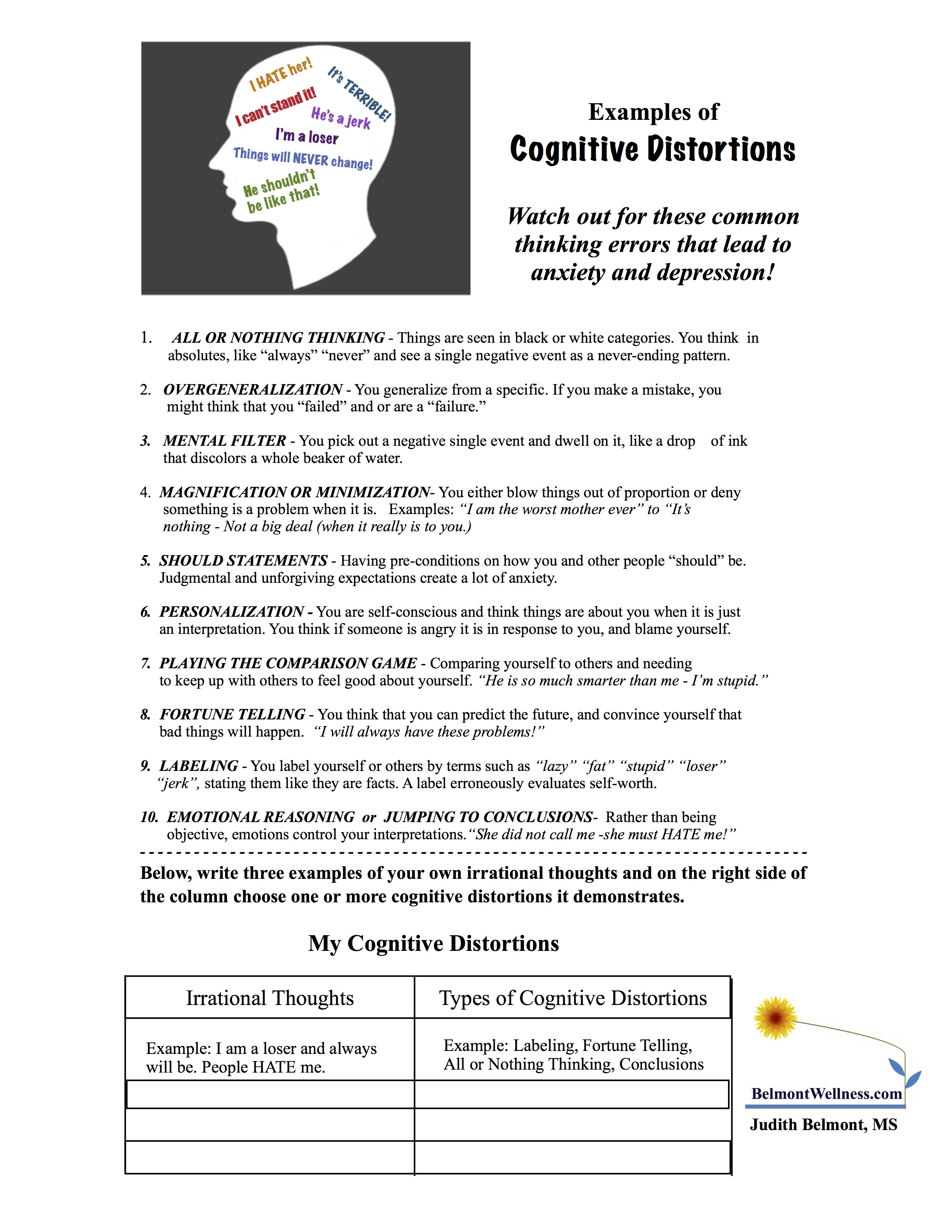 Between Sessions Mental Health Worksheets For Adults