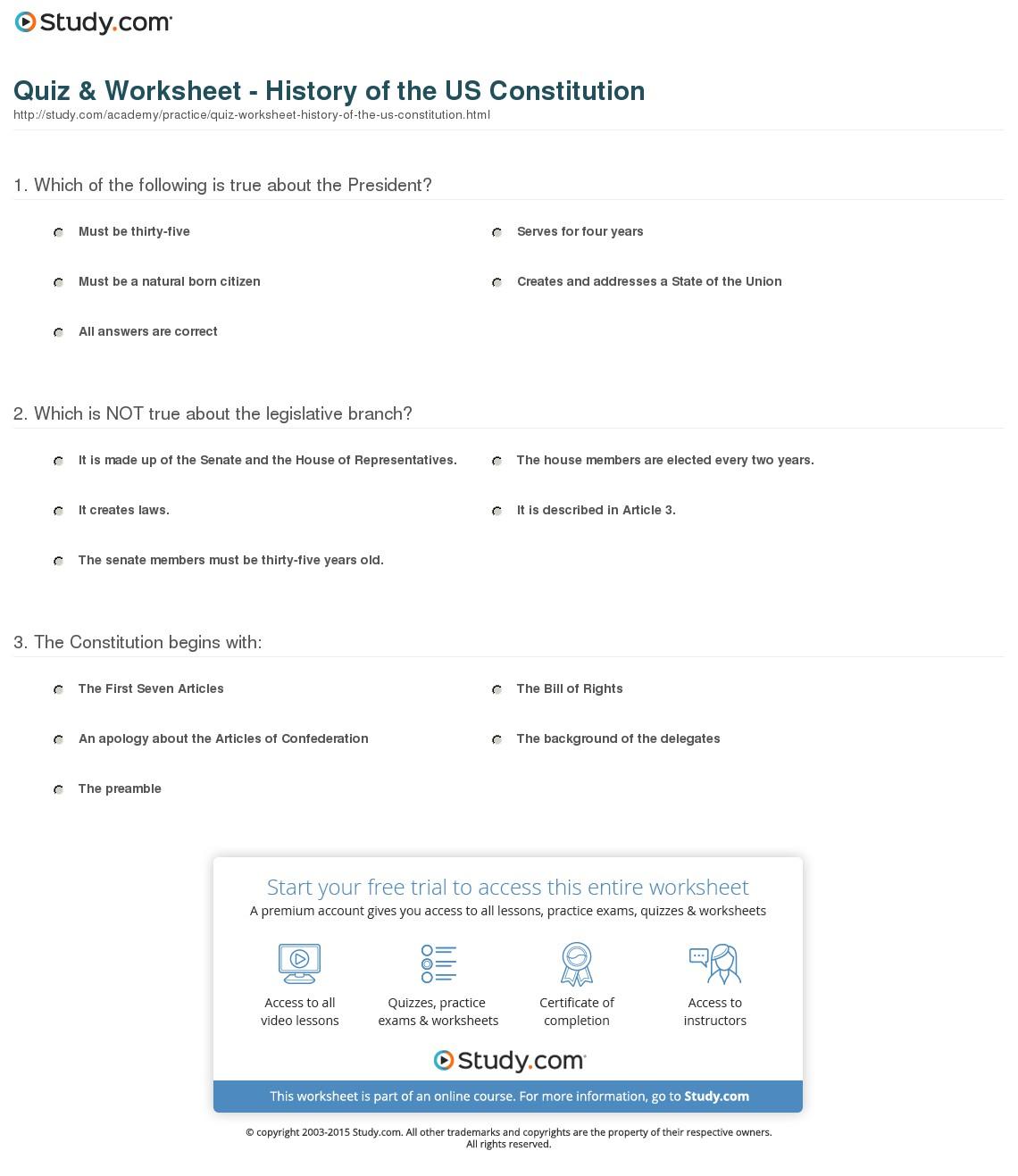 Anatomy Of The Constitution Teacher Key