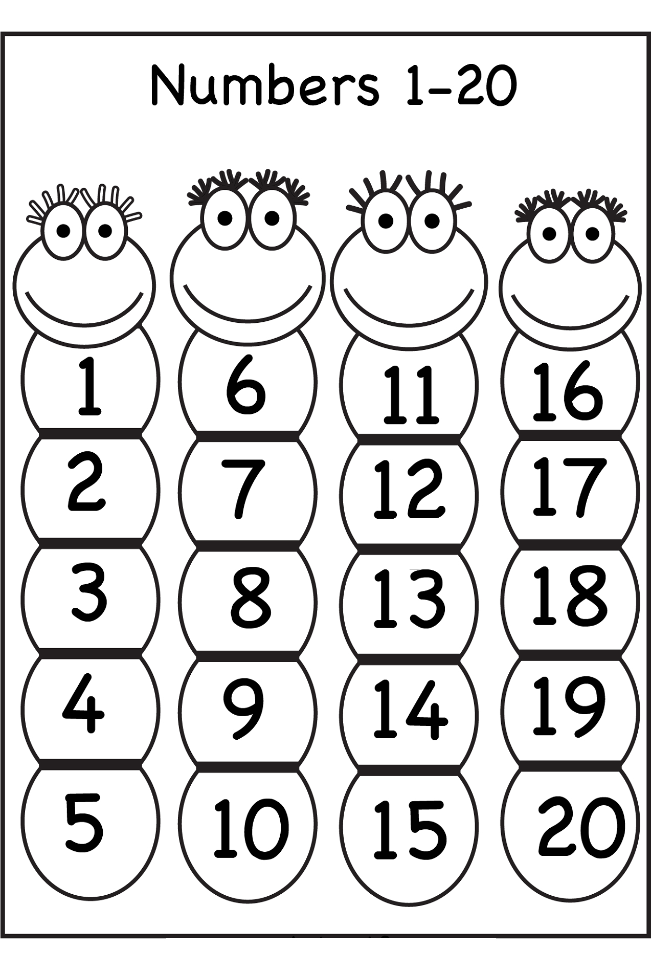 Free Printable Tracing Numbers 1 20 Worksheets