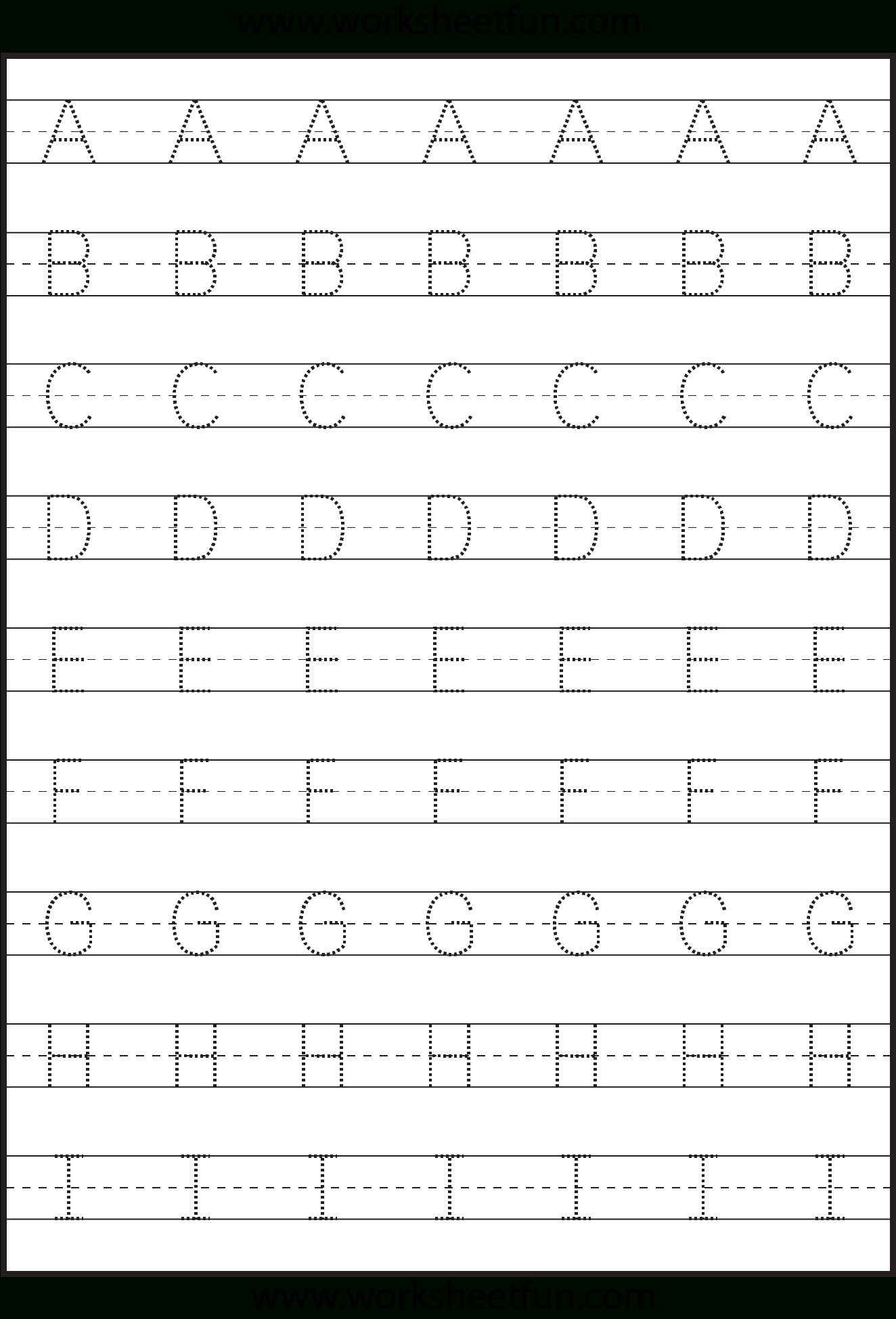 Letter Tracing Worksheet Capital Letters Free