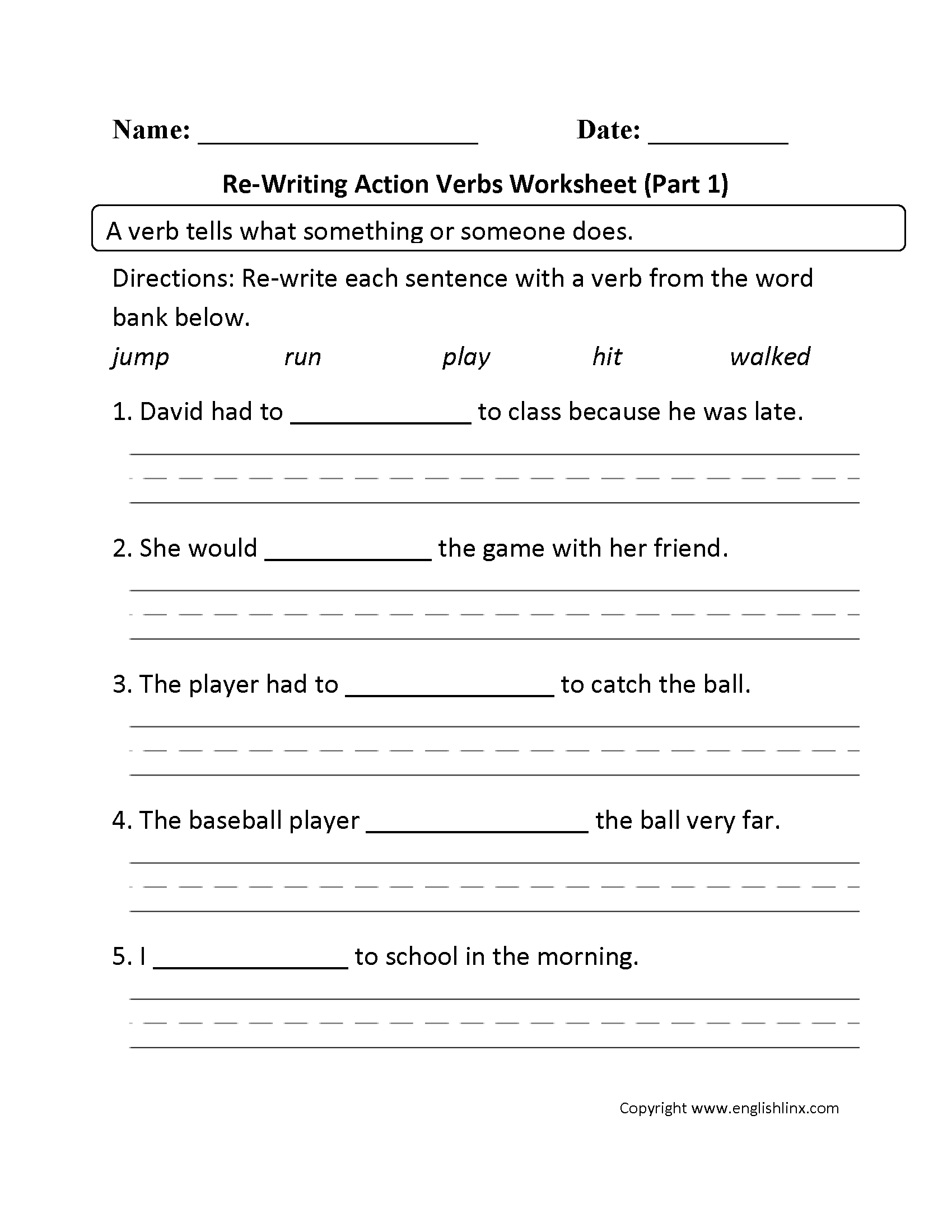 Nouns Worksheets And Printouts