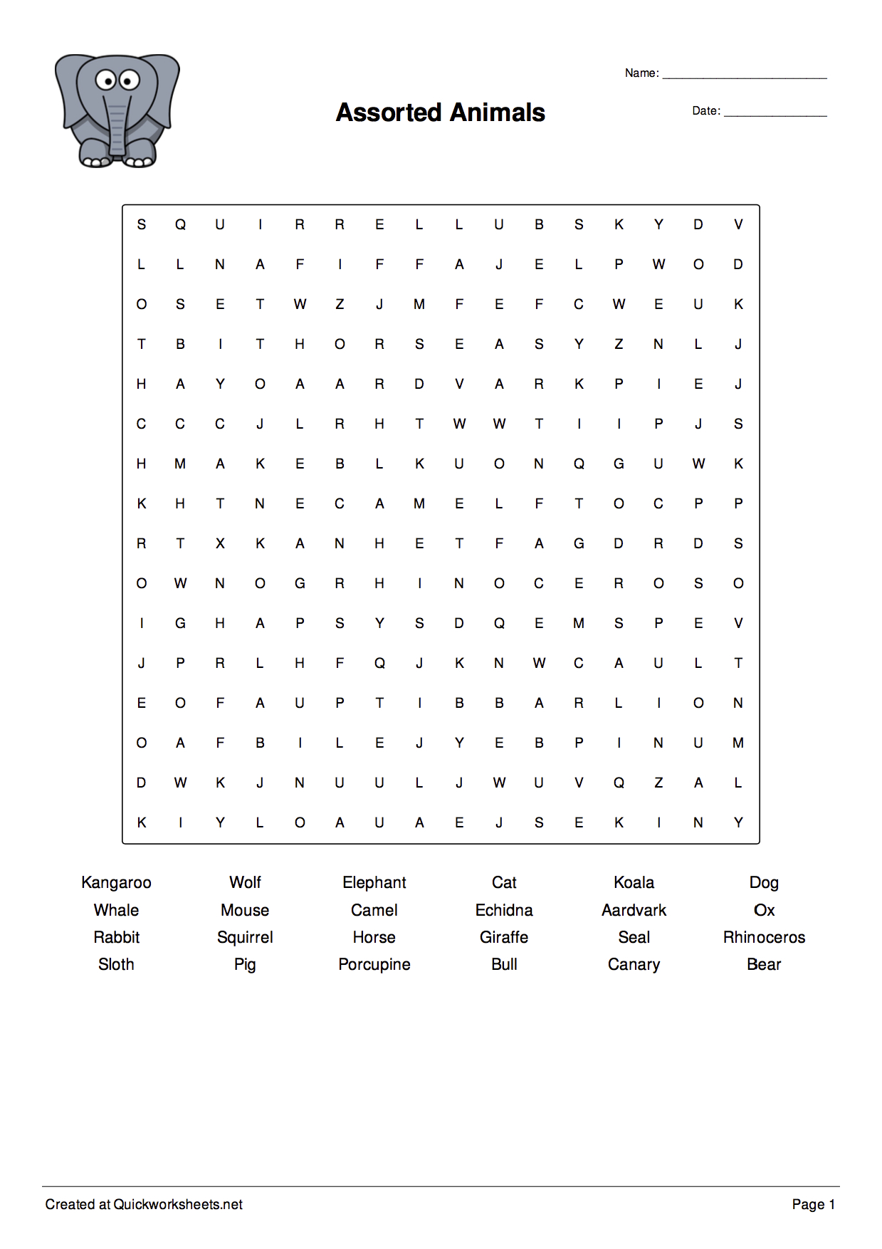 Free Printable Spelling Worksheet Generator