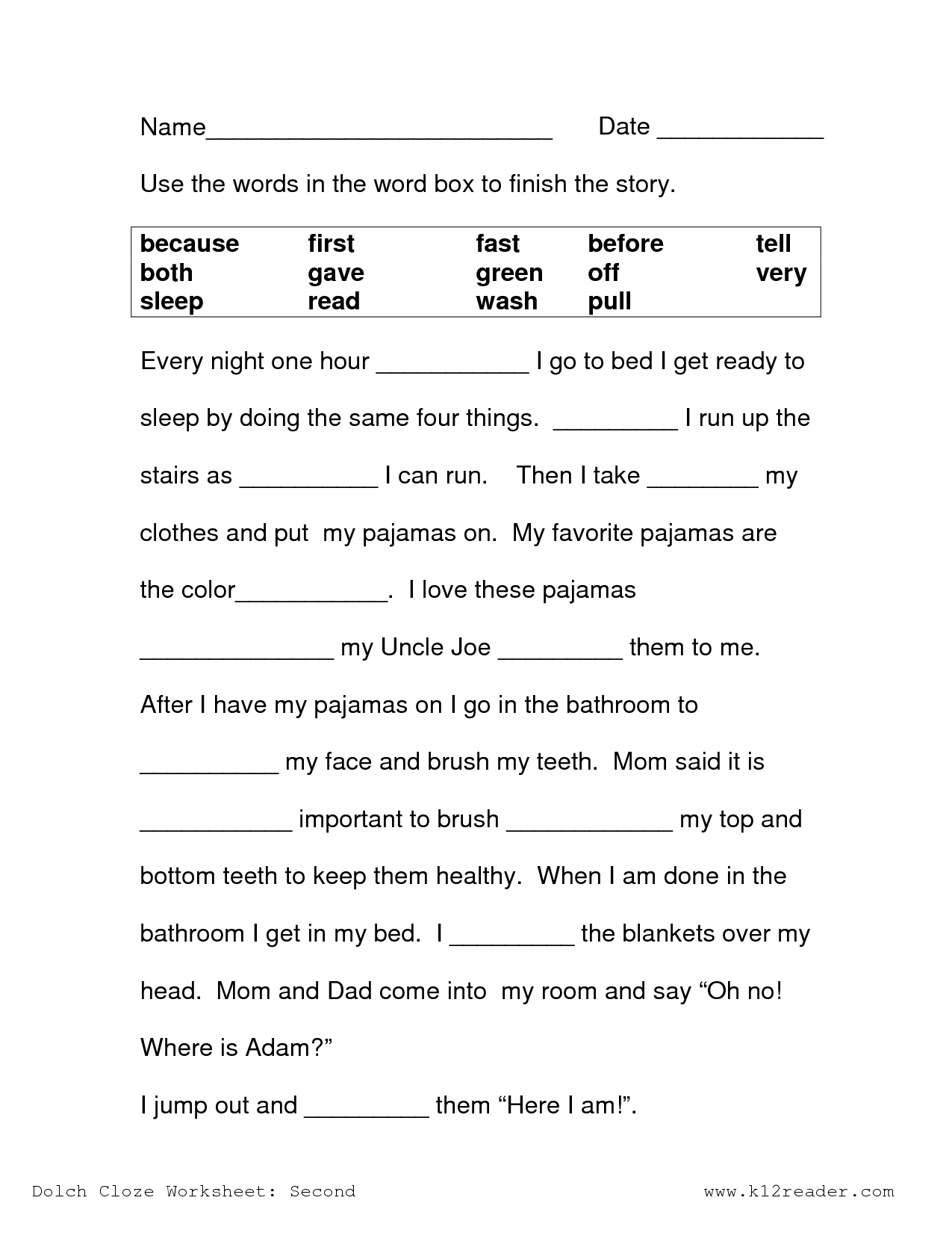 Free Printable Comprehension Worksheets Ks1