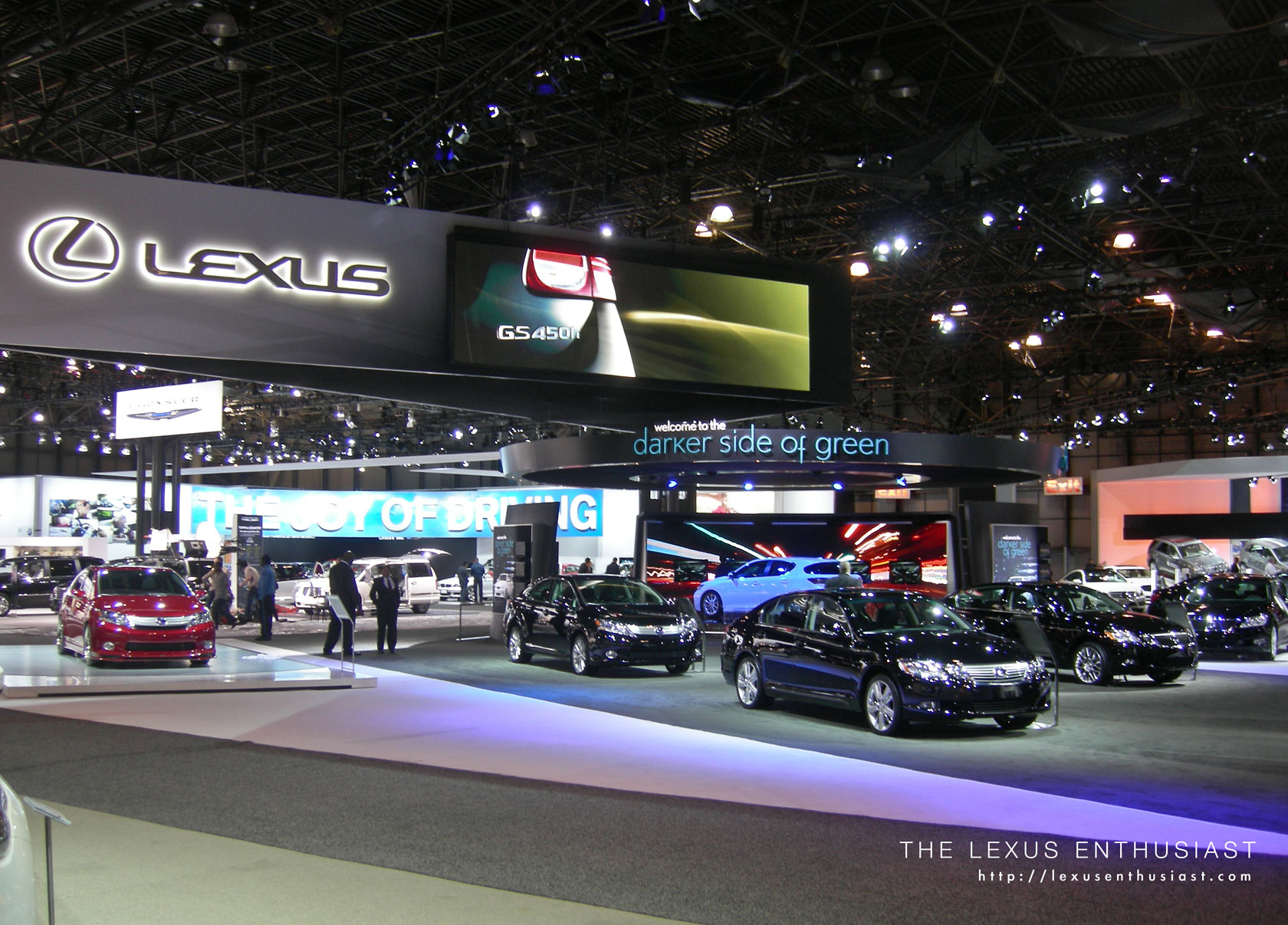 s from the Lexus Exhibit at the New York Auto Show Toyota