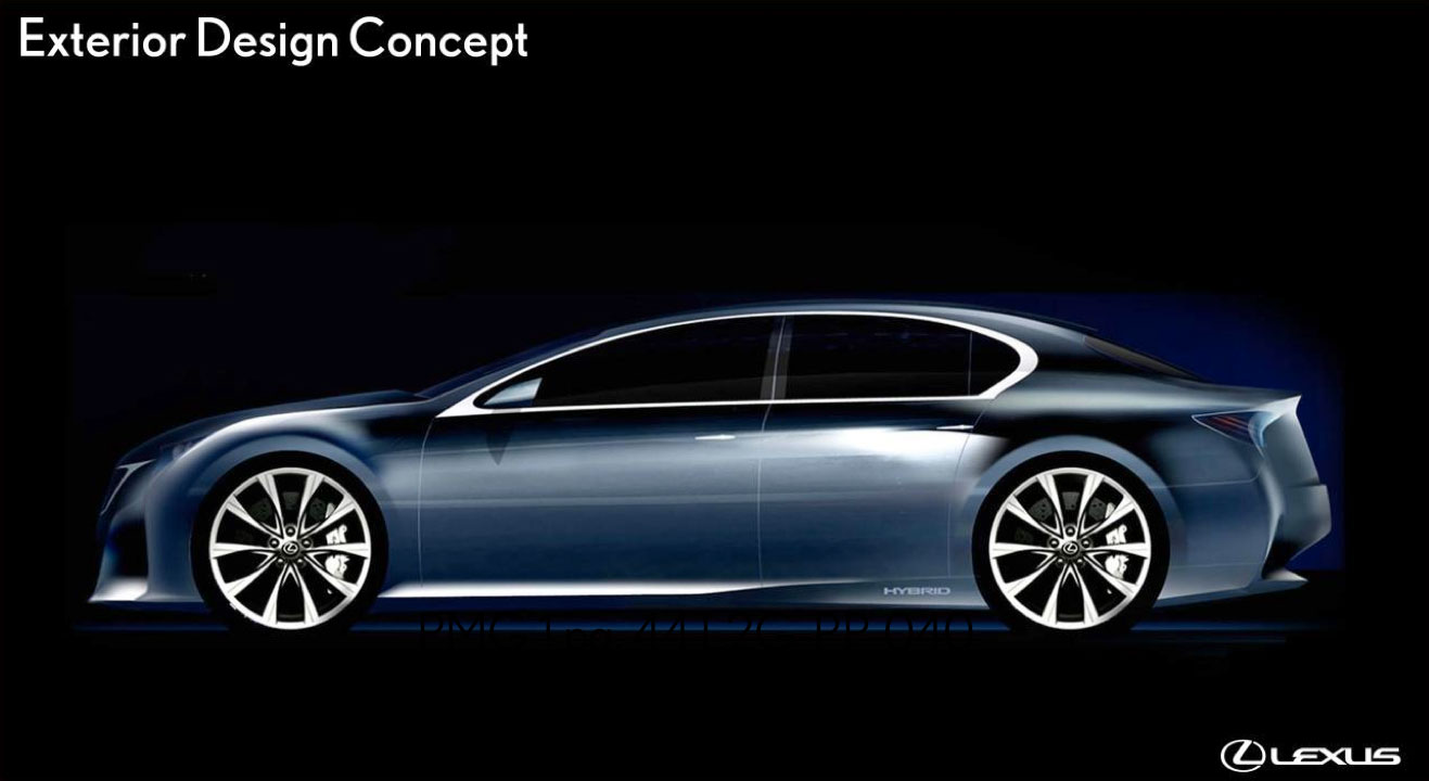 Lexus GS Exterior Concept Drawing