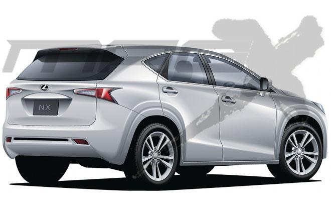 Lexus NX Rendering Mag-X Rear
