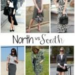 North v. South: Black & White Combo