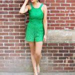 Lace Green Romper