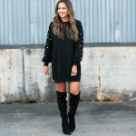 Pearl Beaded Sweatshirt Dress