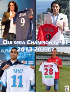 Qui de Cavani, Falcao, Payet, Pedretti sera champion de L1 2013-2014 ?